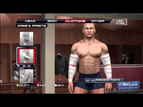 WWE Smackdown vs RAW 2011 Create a Superstar Preview