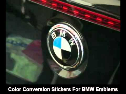 Bmw Logo Emblem Stickers Color Conversion Install Youtube