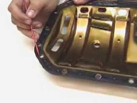 09 montaje junta carter con deflector youtube for Como cambiar los empaques de la regadera