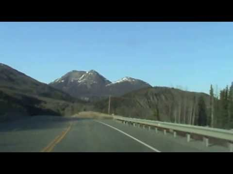 Driving on Alaska Highway 1 from Palmer, Alaska in May 2013 Awesome scenery and breathtaking views.