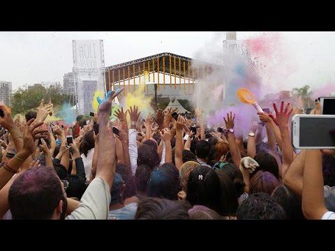 Holi Festival 2014 no Parque do Ibirapuera