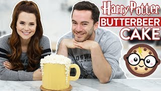 HARRY POTTER BUTTERBEER CAKE ft CaptainSparklez - NERDY NUMMIES