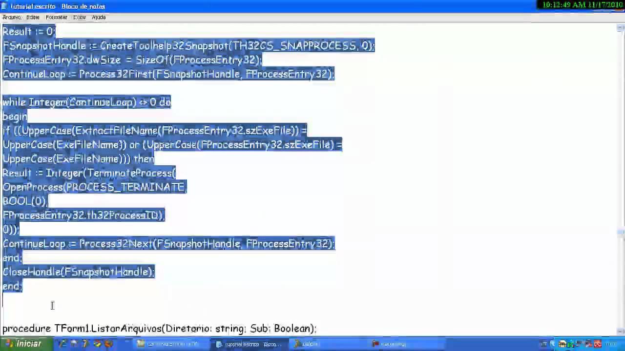 criando keylogger avançado no delphi - YouTube