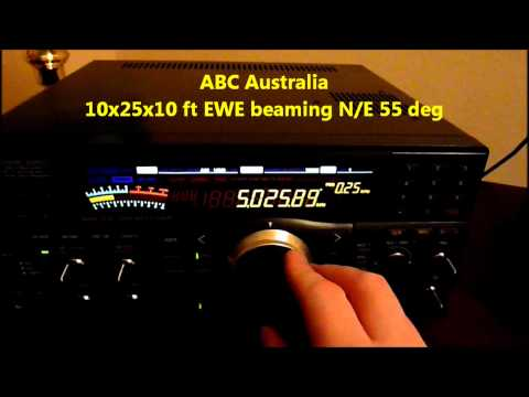 Tropical Band Dx 5025khz  ABC Katherine and Radio Rebelde directional EWE Antenna