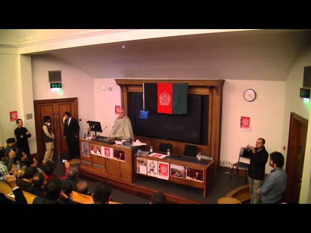 Afghan Student Union's talk by Mahmood Khan Achakzai - Part 1