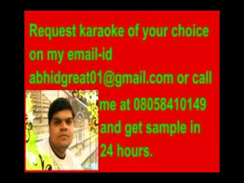 Tere bin reprise karaoke- Dil to baccha hai ji.flv