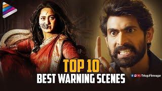 Top 10 BEST WARNING Scenes | Latest Telugu Movies | Bhaagamathie | Nene Raju Nene Mantri