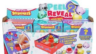 Soft 'N Slow Squishies Peel 2 Reveal Mystery Figure Playsets Series 1 Unboxing Toy Review