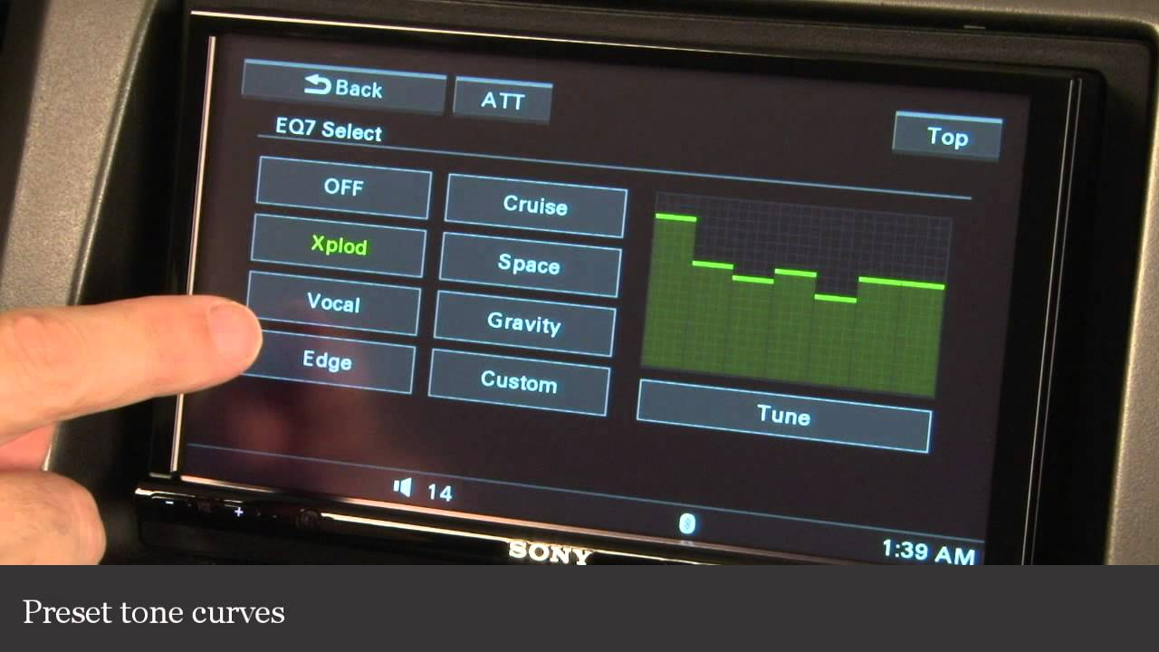 Sony Xav-72bt Dvd Receiver Display And Controls Demo