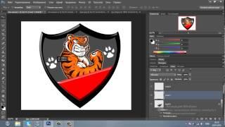 Как сделать свою эмблему в фотошопе cs6