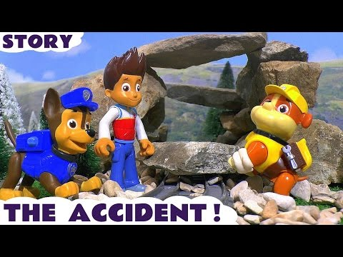 Paw Patrol Accident with Thomas The Train Play Doh and Superman - Fun Family Toy Story TT4U