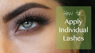 How To Apply Individual Lashes ft. Ardell Individuals | Melissa Alatorre