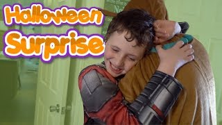 DAD SURPRISES AUTISTIC SON on HALLOWEEN || Trick or Treating Vlog