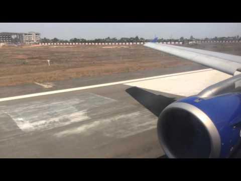 IndiGo Airlines takeoff from BBI (Bhubaneswar) 6E552 VT-IEF