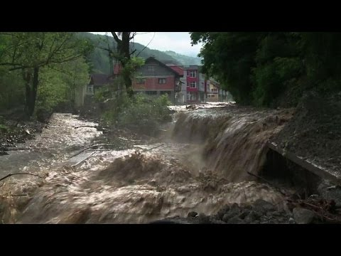 Three months after record floods, Bosnia, Serbia hit again