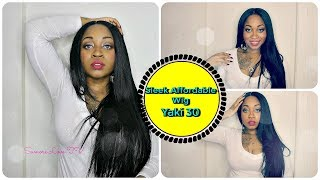 Watch Me Slay This Wig From Start To Finish ☆ Sleek Straight Long Hair ☆ Sensationnel Yaki 30 ☆