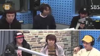 160113 Sungjae's doing Minhyuk's rap in Way Back Home