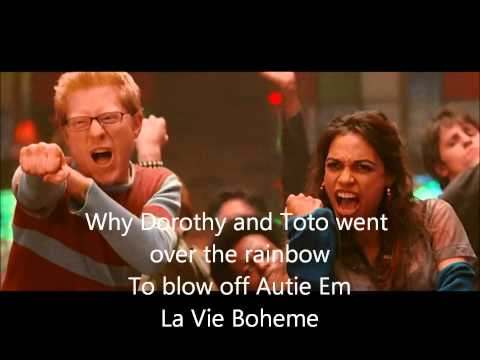 La Vie Boheme - Rent (Lyrics)