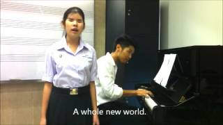 "Amazing girl ! ""A whole new world"" covered Napat with Pattanan (Fa)"