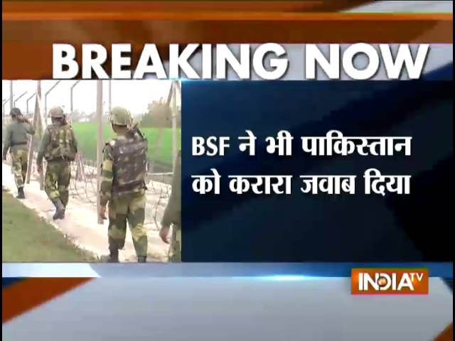 Pakistan Rangers Target 4 BSF Posts in J&K - India TV