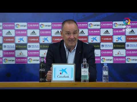 Rueda de prensa de Víctor Fernández tras el Real Zaragoza vs Albacete BP (0-0)