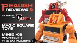 Video Review: Magic Square Toys MS-B01/02 ARCHITECT and FIRE EXTINGUISHER
