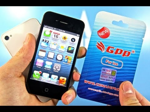 How To Unlock CDMA iPhone 4S 6.0.1/6.0 for T-mobile - Sprint/Verizon 3.0.04 GPP Sim NO Jailbreak