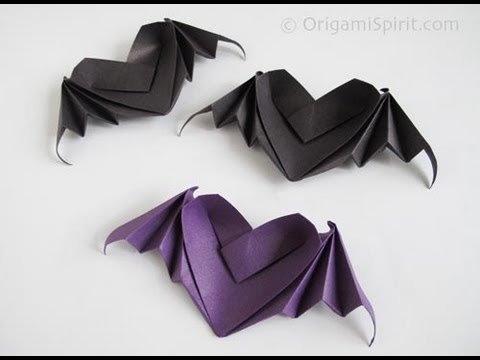 Bat Heart Origami Origami Heart With Bat Wings
