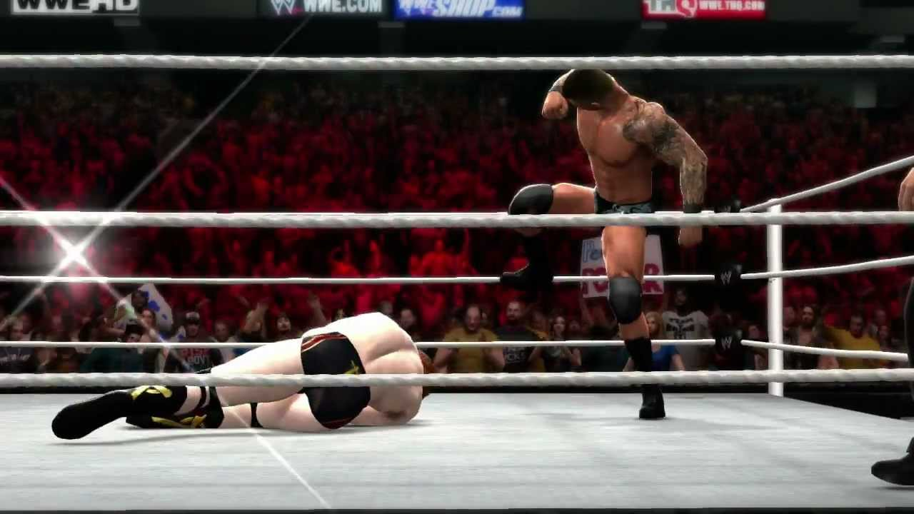 Wwe 2012 Randy Orton Finisher Randy Orton Hits His Finisher