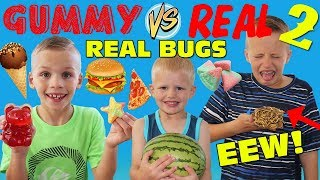 Gummy Food vs Real Food - Eating REAL Dried BUGS!