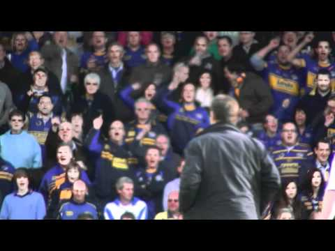 "The previous week, Leeds fans had been battled by Clarke for his comments regarding Leeds ""cheating"" Wigan out of the game. The Leeds fans didnt take too nic..."