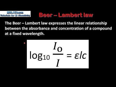 beer lamberts law and spectroscopy essay Please select whether you prefer to view the mdpi pages with a view tailored for mobile displays or to view the mdpi pages in the normal scrollable desktop version.