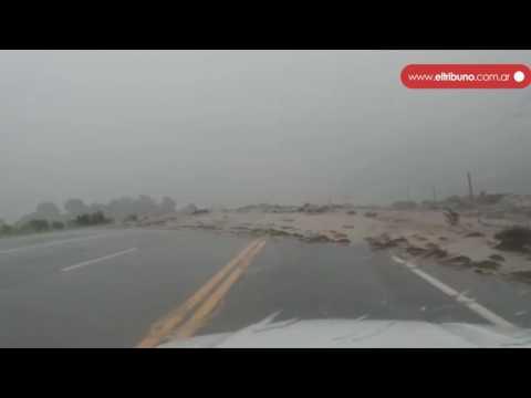 Alud por fuerte lluvias provocaron el corte de la Ruta 9 a la altura de Barcena