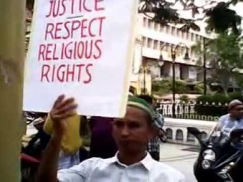 Myanmar Muslim Malaysia Penang demonstration to 969