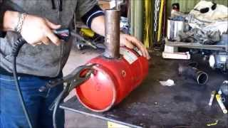 How to build a Waste oil Burner for heating, scrapping or aluminium melting