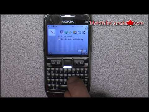 How To Enter Unlock Code On Nokia E71 From Rogers - Www.mobileincanada video