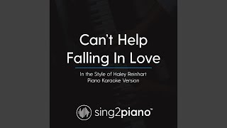 Can 39 T Help Falling In Love In The Style Of Haley Reinhart Piano Karaoke Version