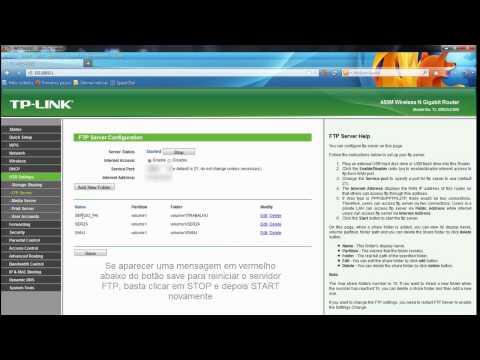 Configurando o servidor FTP do roteador TP-Link WR2543ND - PARTE 1