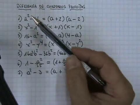 Factorización: Diferencia de Cuadrados Perfectos 02