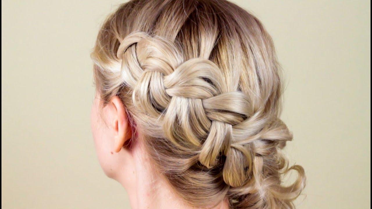 Плетение кос на средние волосы прически самой себе