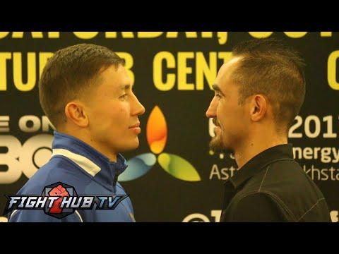 Gennady Golovkin vs Marco Antonio Rubio full final press conference  face off video