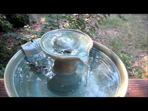 Pet Drinking Fountain - Arctic Blue and Tormaline Glaze