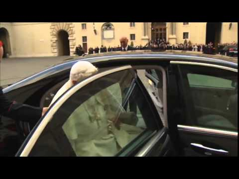 Pope Benedict XVI leaves the Vatican