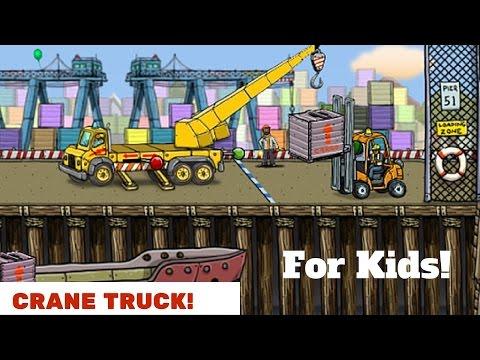 Crane Truck!  Ride Along.  For Kids!