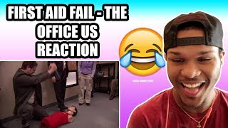 *WHO'S FUNNIER MICHAEL OR DWIGHT?* FIRST AID FAIL - THE OFFICE US REACTION