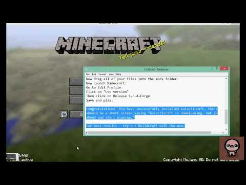 MineCraft - How to Install Galacticraft 1.6.2/1.6.4 QUICKLY
