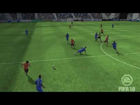 FIFA 10 Demo: Anelka profits from poor Barca defending