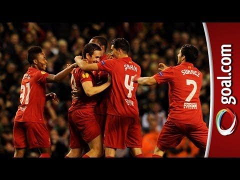Liverpool 1-0 Anzhi - Kopites cheer scorer Downing