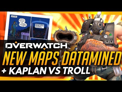 Overwatch | NEW MAPS DATAMINED + Jeff Kaplan vs A Troll
