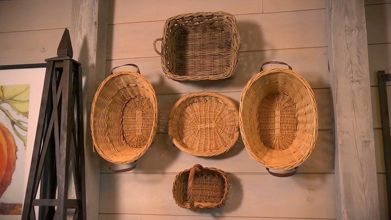 Wall Decor Using Baskets : How to use baskets as decoration at home with p allen